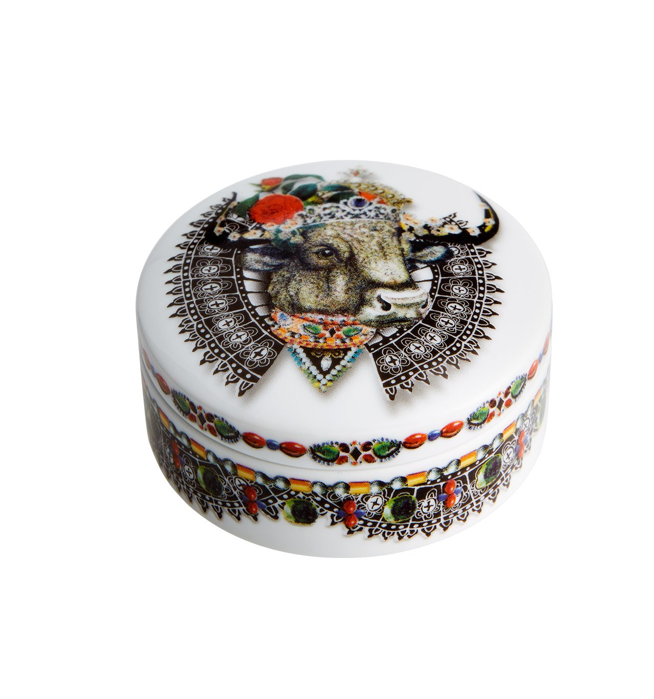 Vista Alegre Christian Lacroix - Love Who You Want - Small Round Box Bull by Vista Alegre