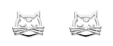Dew Sterling Silver Teddy Bear Stud Earrings 4866HP dMyOnLQ