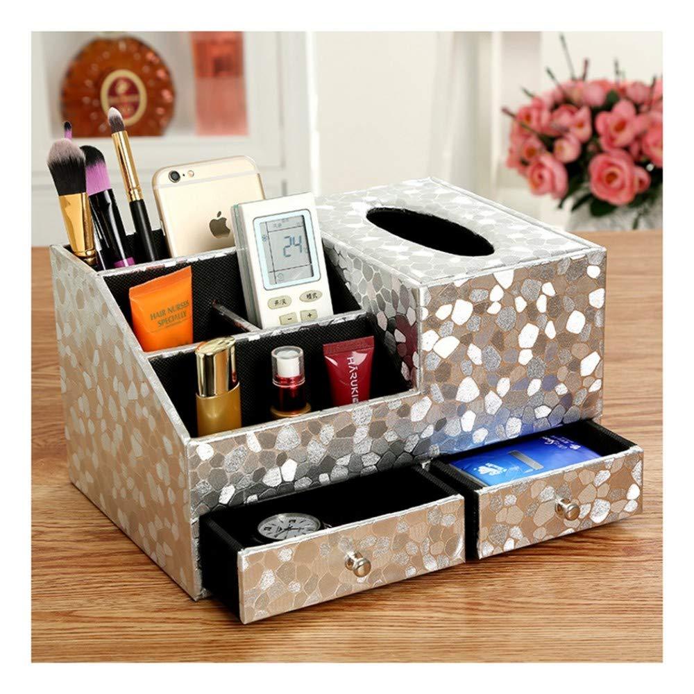 SHUCHANGLE Tissue Box Holz Tissue Box Holder Tissue Cover Box Vintage Holz Multifunktionsspeicher Leder Einfache Muster Desktop Organizer Tissue Holder Für Auto B07NS5MK7D Toilettenpapieraufbewahrung