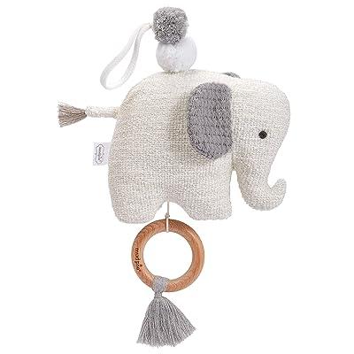 Mud Pie Elephant Musical Stroller Pull Toy, Grey : Baby