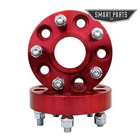 Amazon 40 QTY Red Wheel Spacers Adapters 4040 404040 Inch Per Amazing Jeep Wrangler Wheel Bolt Pattern