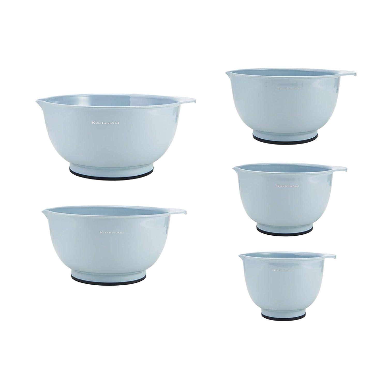 KitchenAid KE178OSMYA Classic Mixing Bowls, Set of 5, Misty Blue