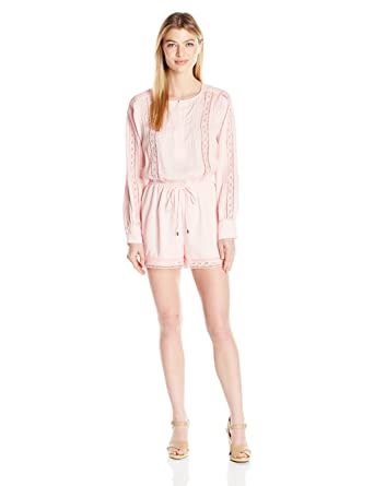 7d78a5f69d5 Amazon.com  Adelyn Rae Women s Long Sleeve Romper  Clothing