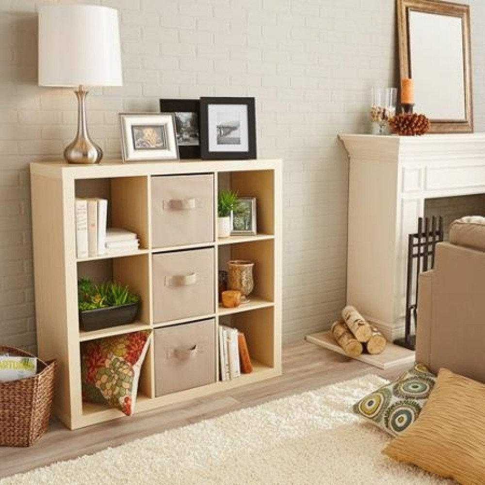 Amazon.com Better Homes and Gardens 9-cube Organizer Storage Bookcase Bookshelf Cabinet Divider Multiple Colors - Birch Kitchen u0026 Dining & Amazon.com: Better Homes and Gardens 9-cube Organizer Storage ...