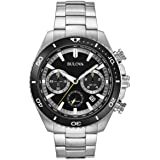 Bulova High Frequency Quartz Chronograph Silver Tone Men's Watch 98B298 (Certified Refurbished)