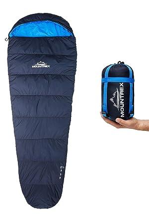 so billig fairer Preis zarte Farben MOUNTREX® Schlafsack – Kleines Packmaß & Ultraleicht (720g) | Outdoor  Sommer Schlafsack - Mumienschlafsack (205x75cm) | Kompakt, Warm und Leicht  | für ...