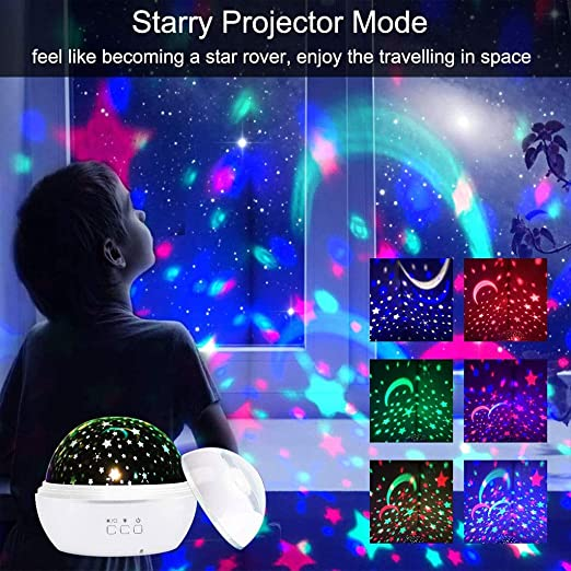 Luz de la noche del bebé, 2 en 1 lámpara de proyector de luz ...