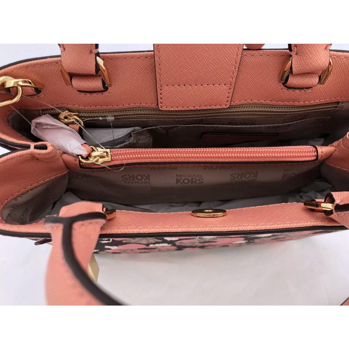 d5bb960e142f6d Amazon.com: Michael Kors Hailee XS Satchel Bag Peach Floral: Shoes
