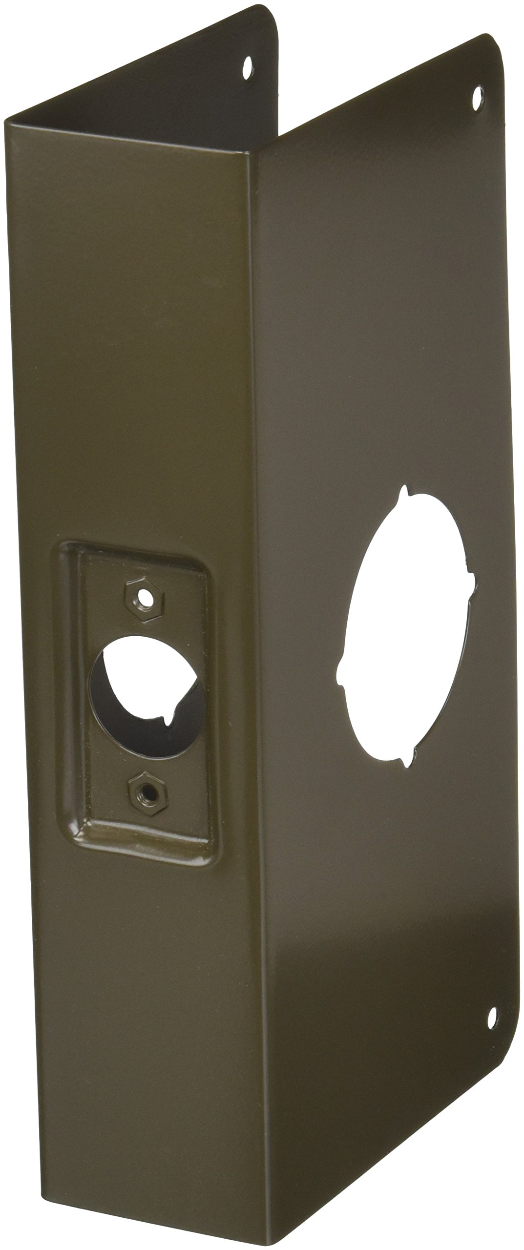 Don-Jo 200C-CW 22 Gauge Stainless Steel Wrap-Around Plate, Oil Rubbed Bronze Finish, 4-1/4'' Width x 9'' Height, 2-3/8'' Backset, 2'' Door Size, For Thicker Doors