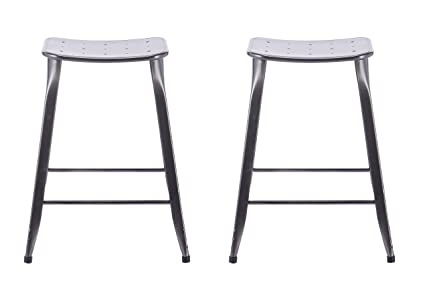 Outstanding Amazon Com Acessentials 2 Pack 24 Stackable Metal Backless Gmtry Best Dining Table And Chair Ideas Images Gmtryco