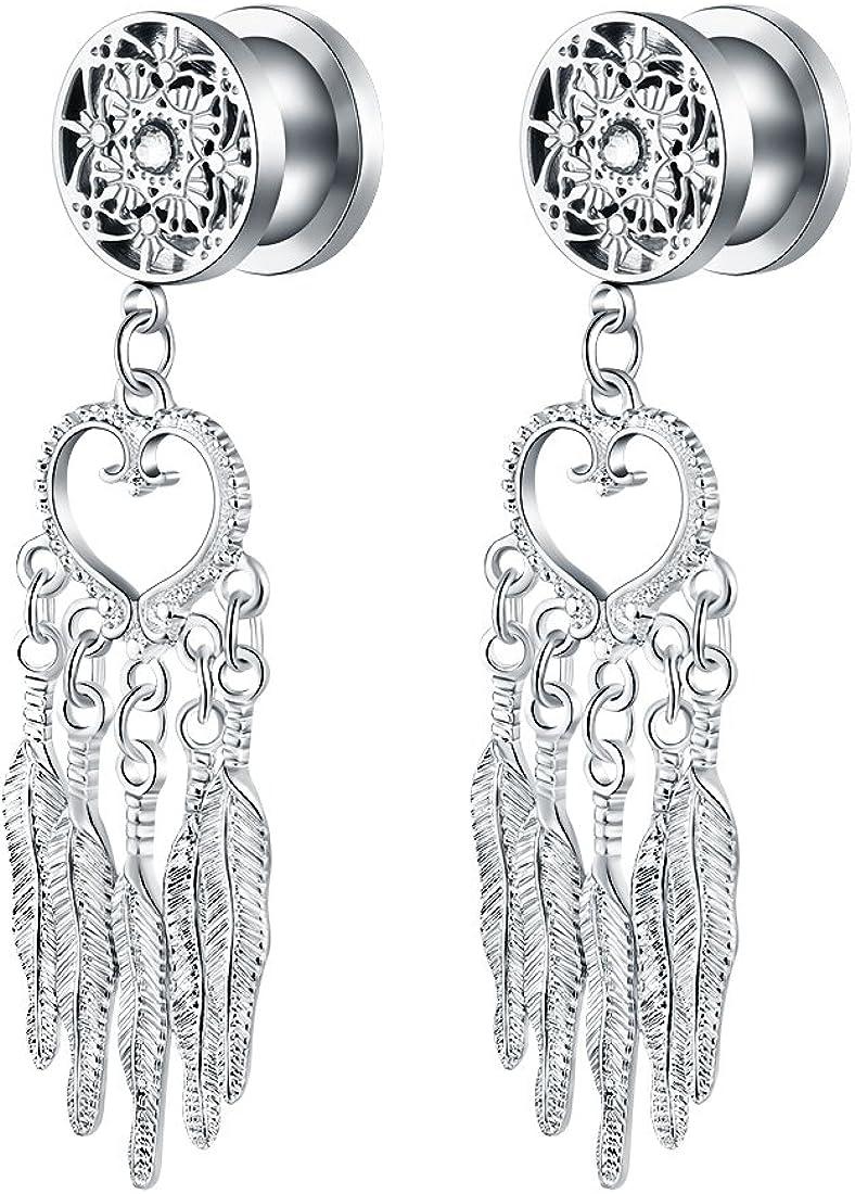 Amazon.com: bigbabybig oreja Mujer Piercing anillos acero ...
