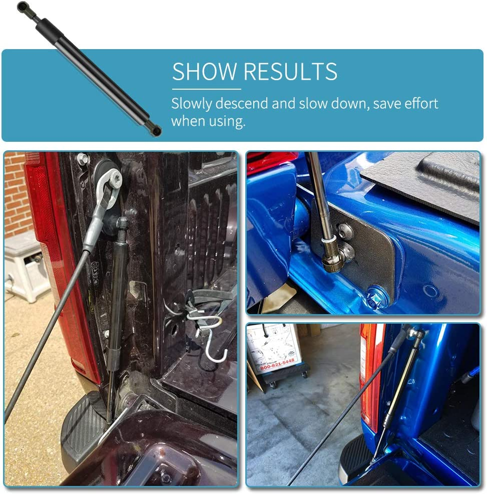 Slow Down Compress Function bar Tailgate Assist Lift Strut for Hilux Revo M70 M80 2015 2016