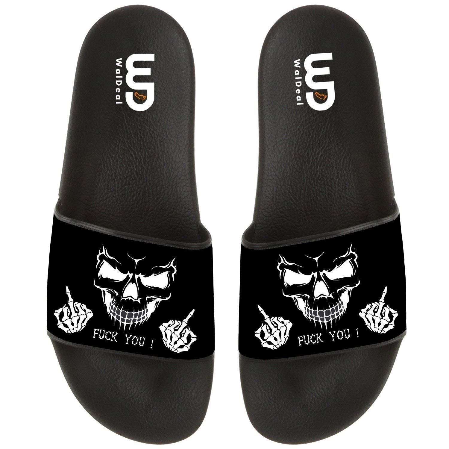 76bf74755567 Originalheart funny skull fuck you print summer casual slide jpg 1500x1500  Skull baby shoes sandals