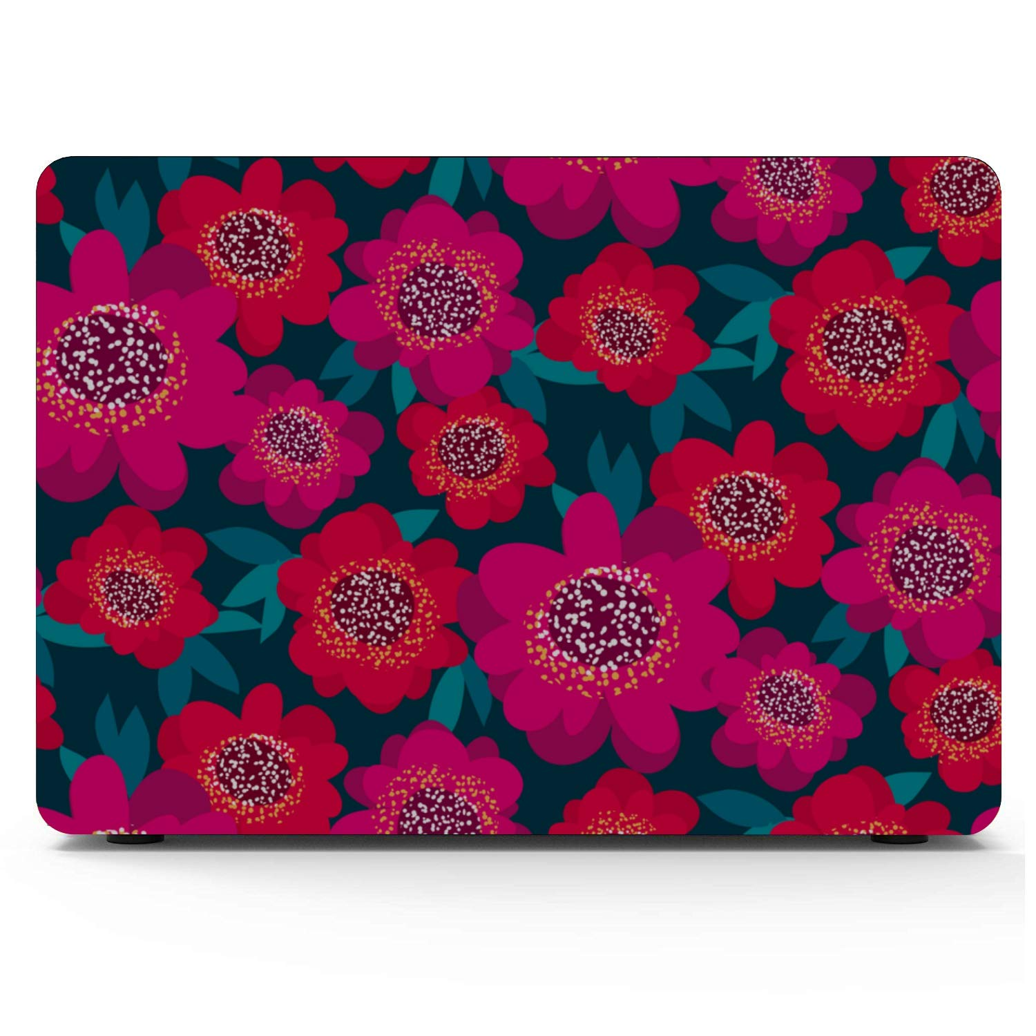 Mac Laptop Cover Rose Red Retro Romatic Spring Peony Plastic Hard Shell Compatible Mac Air 11 Pro 13 15 Mac Computer Cover Protection for MacBook 2016-2019 Version