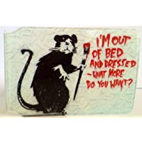 Tarjetero con diseño de Banksy I'm out of Bed