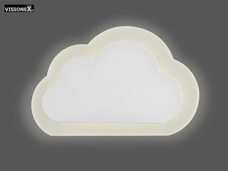 Applique nuvola led w luce calida finitura bianco ideale per