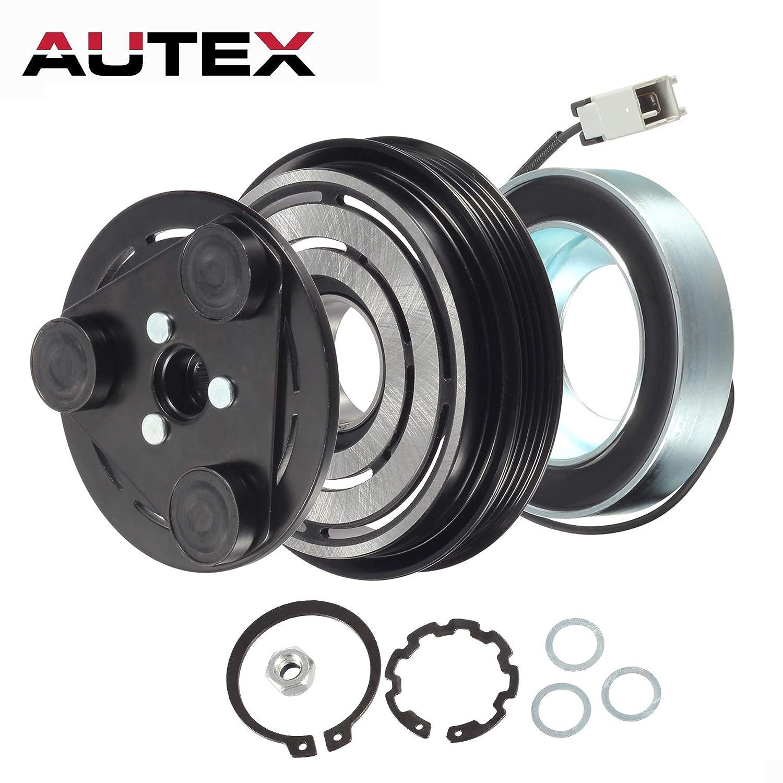 AUTEX AC A/C Compressor Clutch Coil Assembly Kit 73111FE021 73111FE040 Fits  for 2005 2006 Saab 9-2X 2003 2004 2005 Subaru Impreza 2004 2005 2006 2007