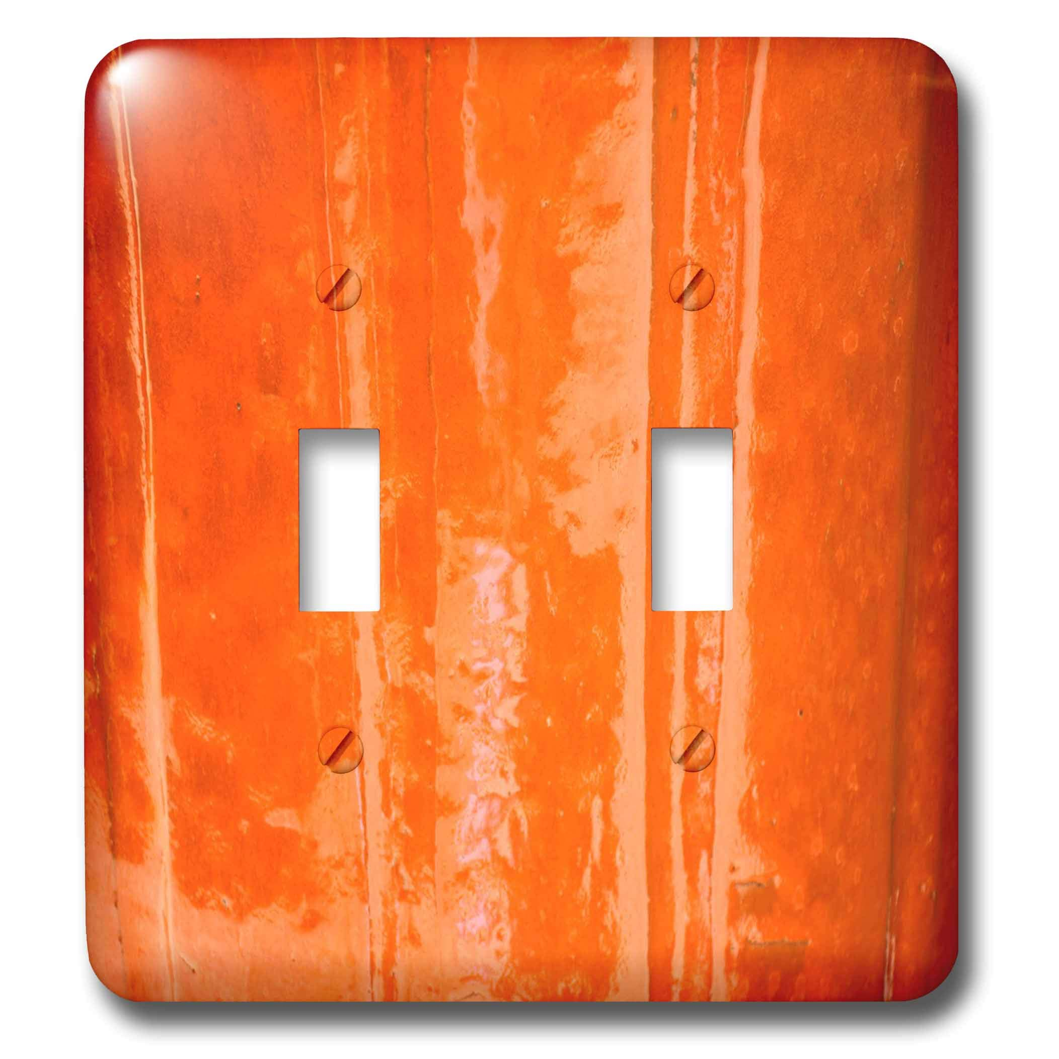 3dRose Lens Art by Florene - Pottery Abstracts - Image of Shades Of Orange Pottery Macro View - Light Switch Covers - double toggle switch (lsp_291458_2)