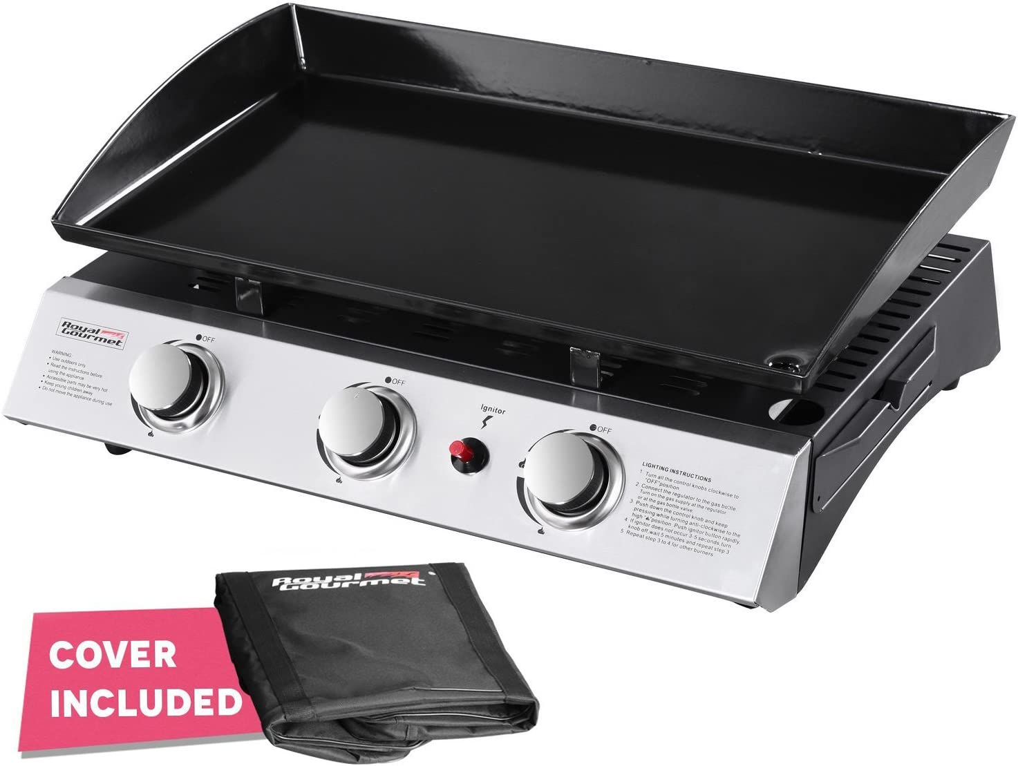 Best for the beginners: Royal Gourmet PD1300 Gas Griddle