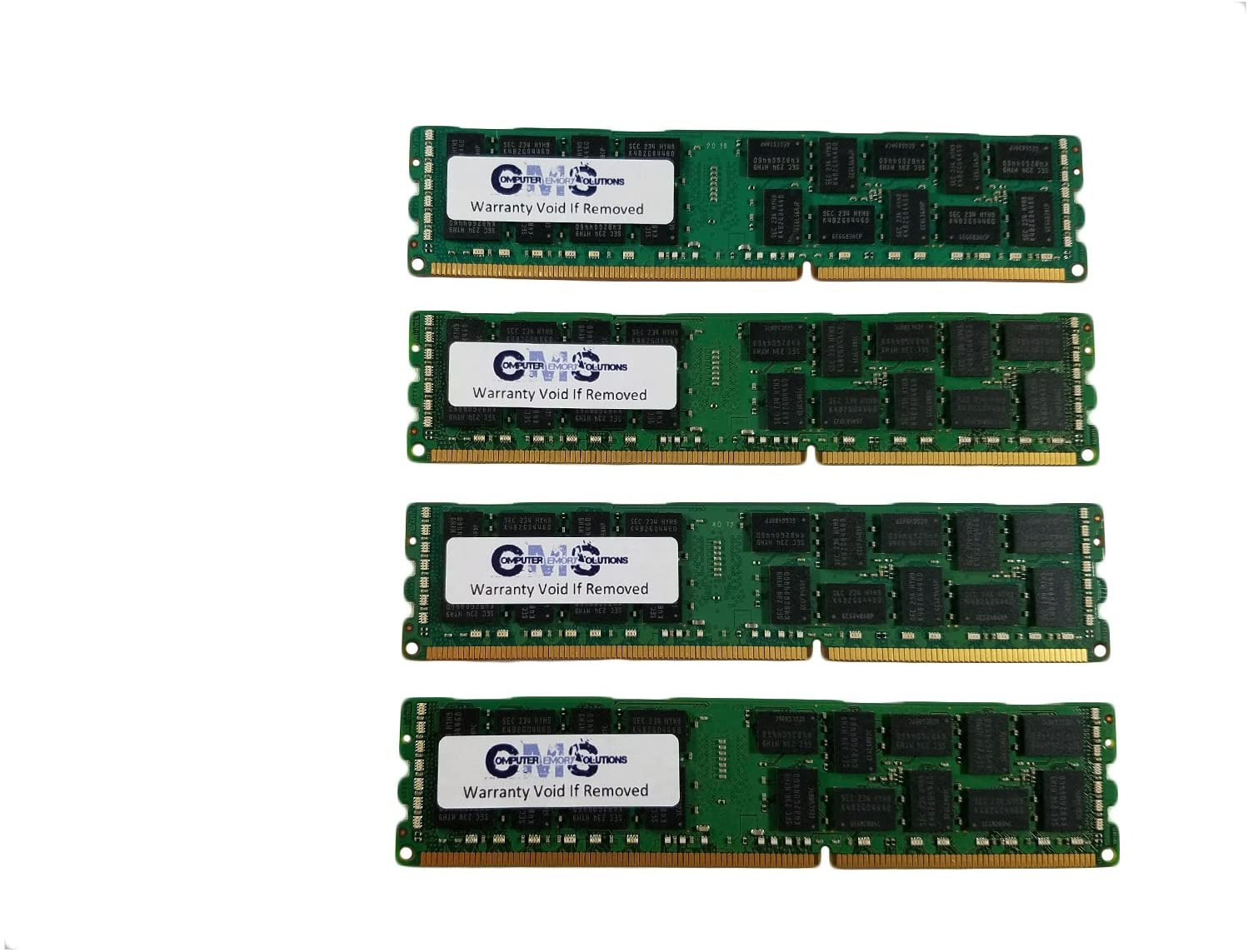 64GB 4x16GB Memory RAM Compatible with Dell PowerVault NX3000 Server ONLY ECC Register by CMS C19