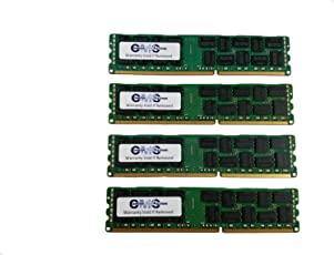 32Gb (4X8Gb) Memory Ram CMS Compatible with Dell Poweredge T310 Quad Rank Ecc Reg For Servers Only By CMS (B26)