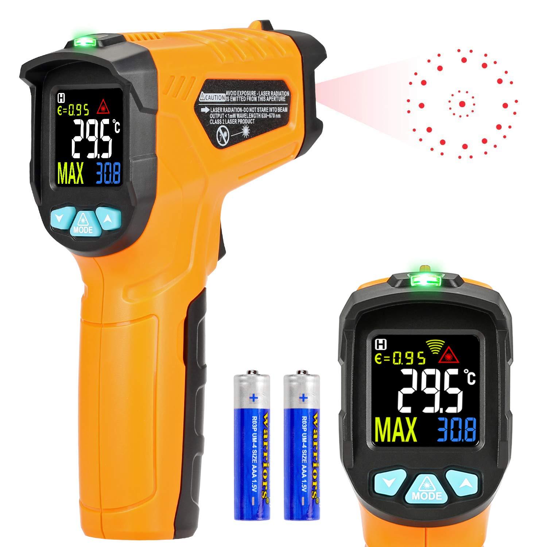 Infrarot Thermometer Ad50 Ir Laser Digital Thermometer 50 C Bis 600 C Kontaktfreies Mit Farbe Lcd 12 Punkte Laserkreis Farbbildschirm Alarmfunktion Bei Über Unterschreitung Der Temperatur Gewerbe Industrie Wissenschaft