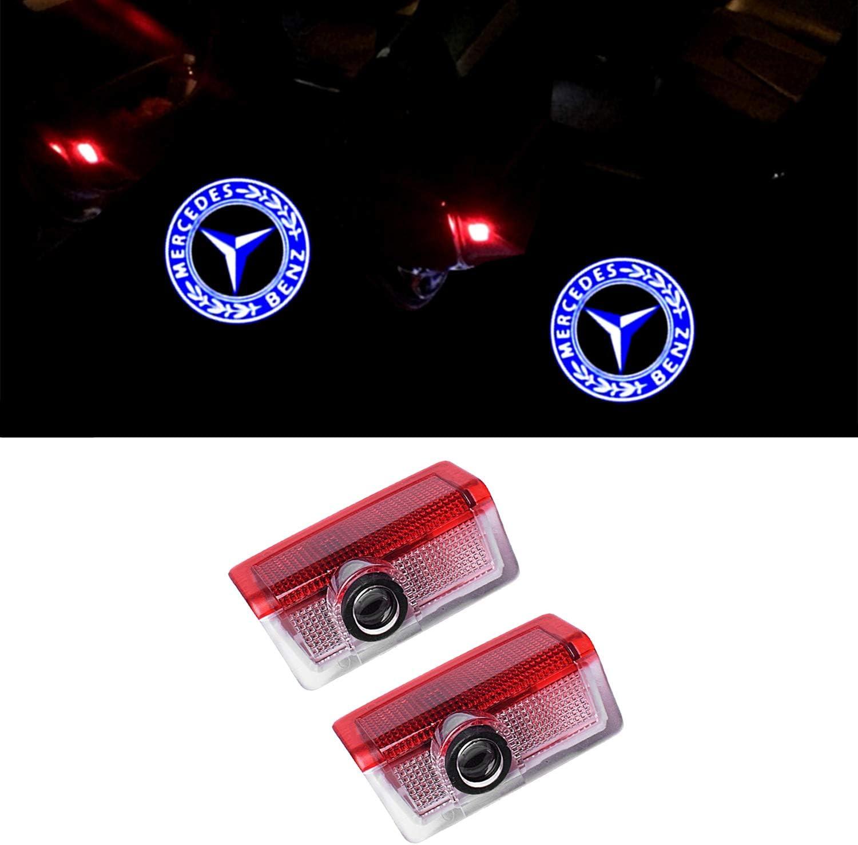 Ztmyzfsl 2 Stücke Auto Logo Projektion Projektor Tür Geister Shadow Light Willkommen Lampe Licht Glk Auto