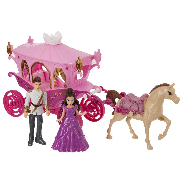 Betoys Poupée Princesse avec Son carrosse - Rose Be Toys