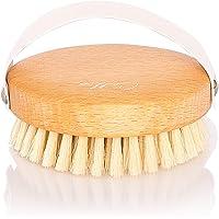 CELLIA Körperbürste rund 100% Naturborsten zur Trockenbürsten Massage (dry brush), Lymphdrainage und Bekämpfung von Cellulite | regionales, FSC-zertifiziertes Buchenholz | hergestellt in DE