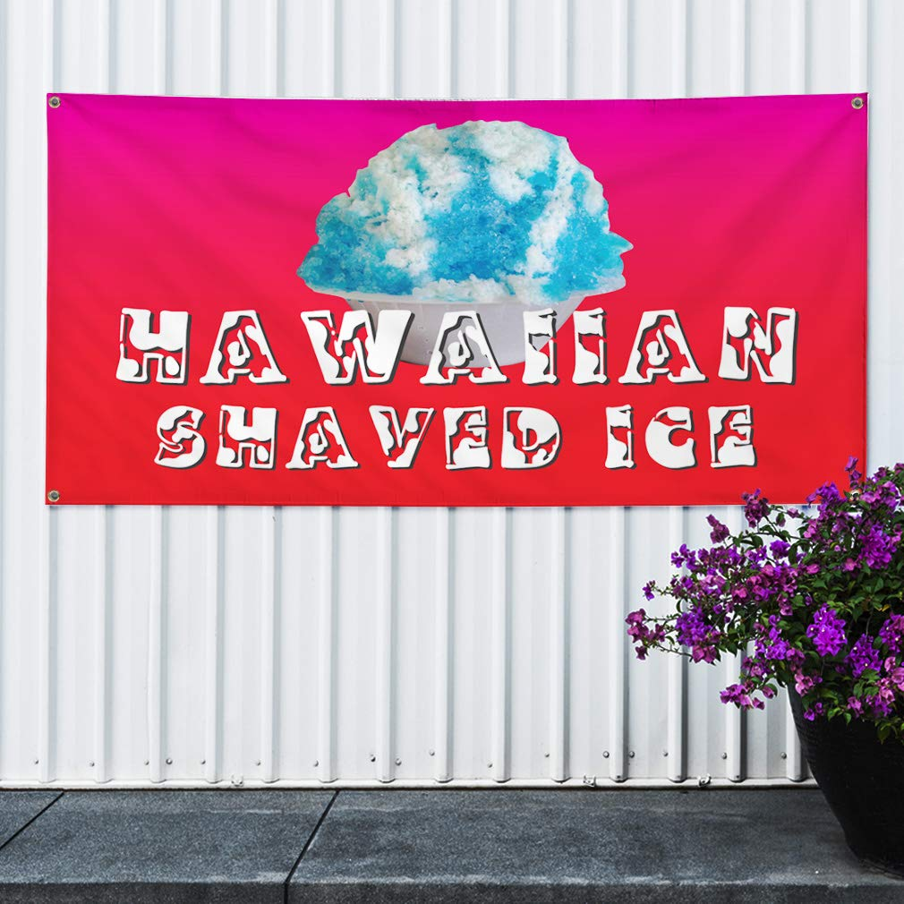 SHAVED ICE Advertising Vinyl Banner Flag Sign Many Sizes Available USA