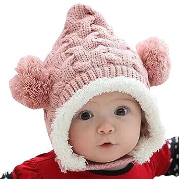 35e7295a70520 Amazon.co.jp:  HKH  キッズ ニット 帽 くま耳 ニット帽 赤ちゃん ...