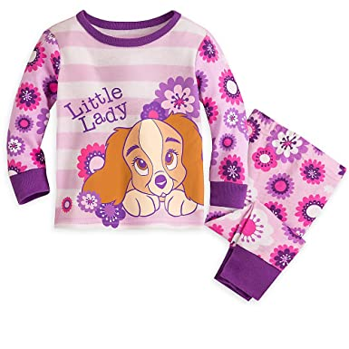 88abf6d36 Disney Lady and The Tramp PJ PALS Pajamas for Girls Size 18-24 MO Purple