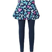 Freebily Leggins para Niña Impresión Leggings Elástico con Falda Estampada Pantalones Largos Jeggings Leggins Deportivas