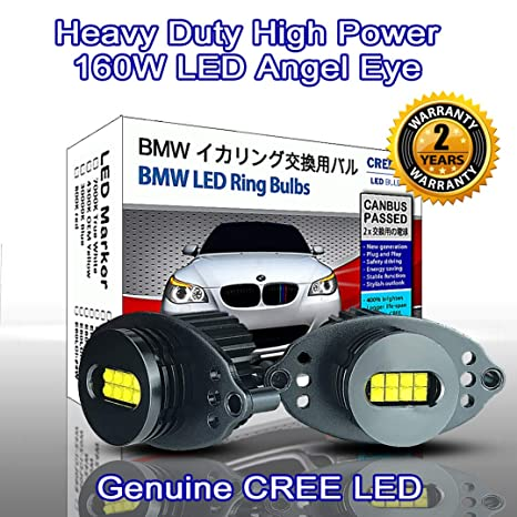 80 W CREE LED bombilla BMW Angel Eyes DRL Luz de gálibo color blanco 7000 K