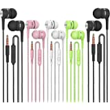 Earbuds Headphones with Microphone 5 Pack,Earbuds Wired Stereo Earphones in-Ear Headphones Bass Earbuds, Compatible with…