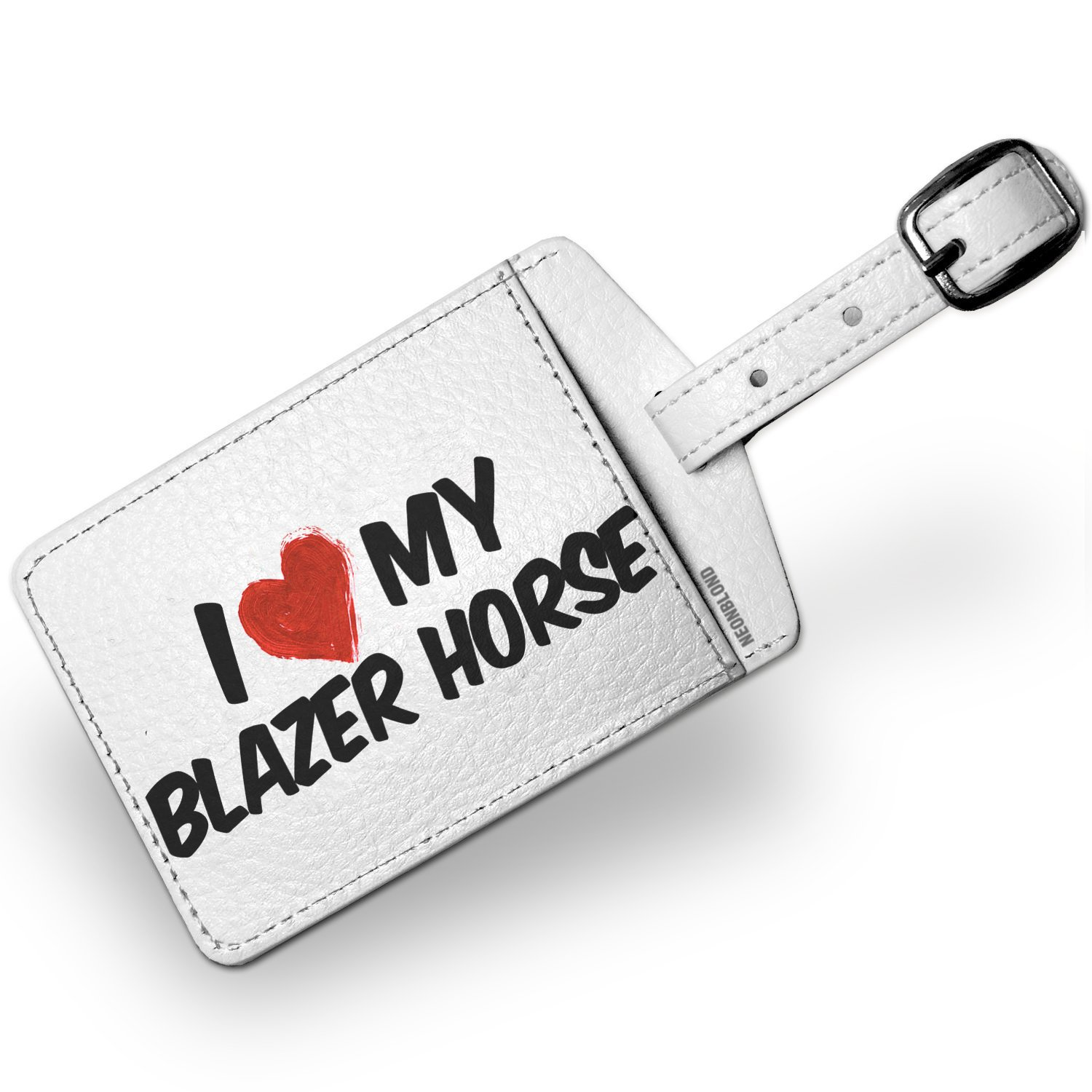 Luggage Tag I Love my Blazer Horse - NEONBLOND