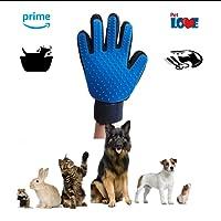 PetLove Gadgets Guante Cepillado y Removedor de Pelo de Baño para Mascotas Higiene. Masaje y Relajador Mejora la Circulacion para Mascotas Gatos, Perros , Caballos , Conejos. Diseño Suave y Facil de Usar.