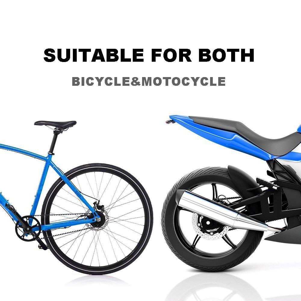 rojo, azul Motocicleta y bicicleta cadena cepillo de limpieza para bicicleta de monta/ña de limpieza mantenimiento herramienta paquete de 2/