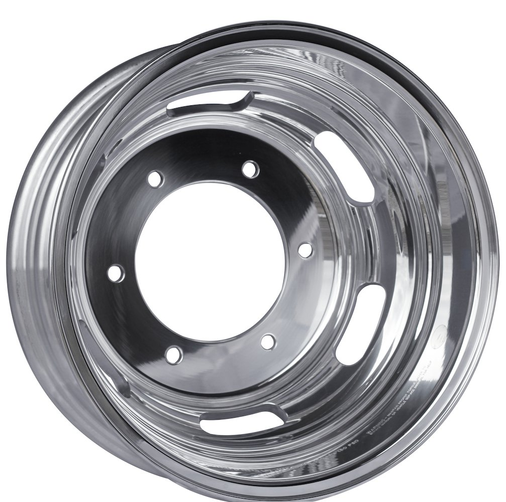 Alcoa 16'' x 5.5'' Polished Rear Dual Wheel for a Freightliner or Mercedes Sprinter (250802)