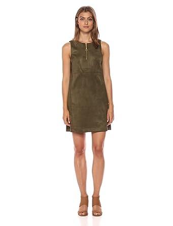 04a1578194c2 Adrianna Papell Women s Scuba Suede Shift Dress at Amazon Women s ...