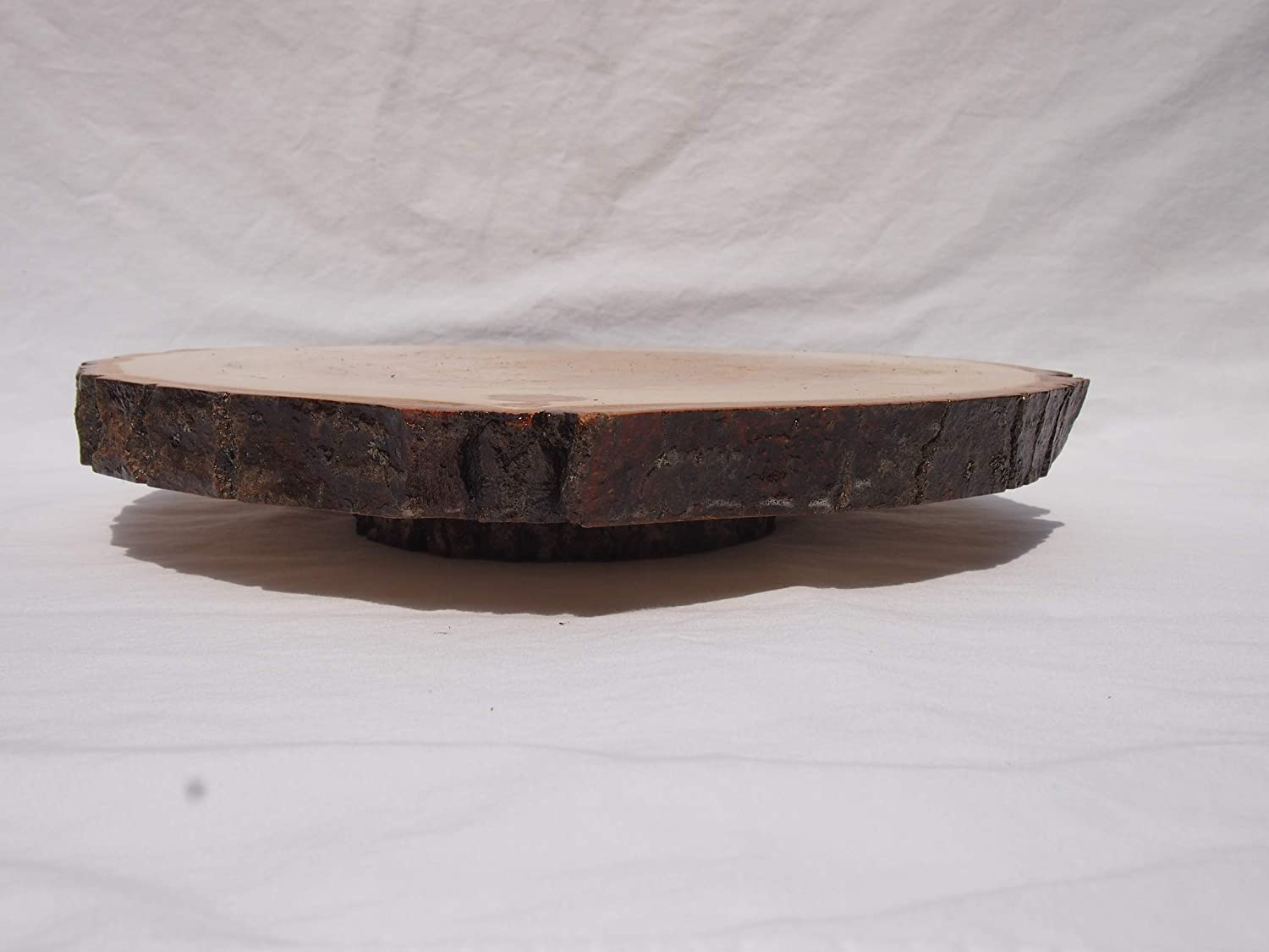 display stand 12.5 by 13.5 Aspen tree slice Lazy Susan table centerpiece