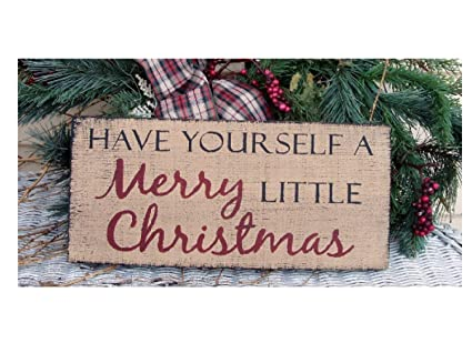 Have Yourself A Merry Little Christmas Sign.Amazon Com Zora Camp Have Yourself A Merry Little Christmas