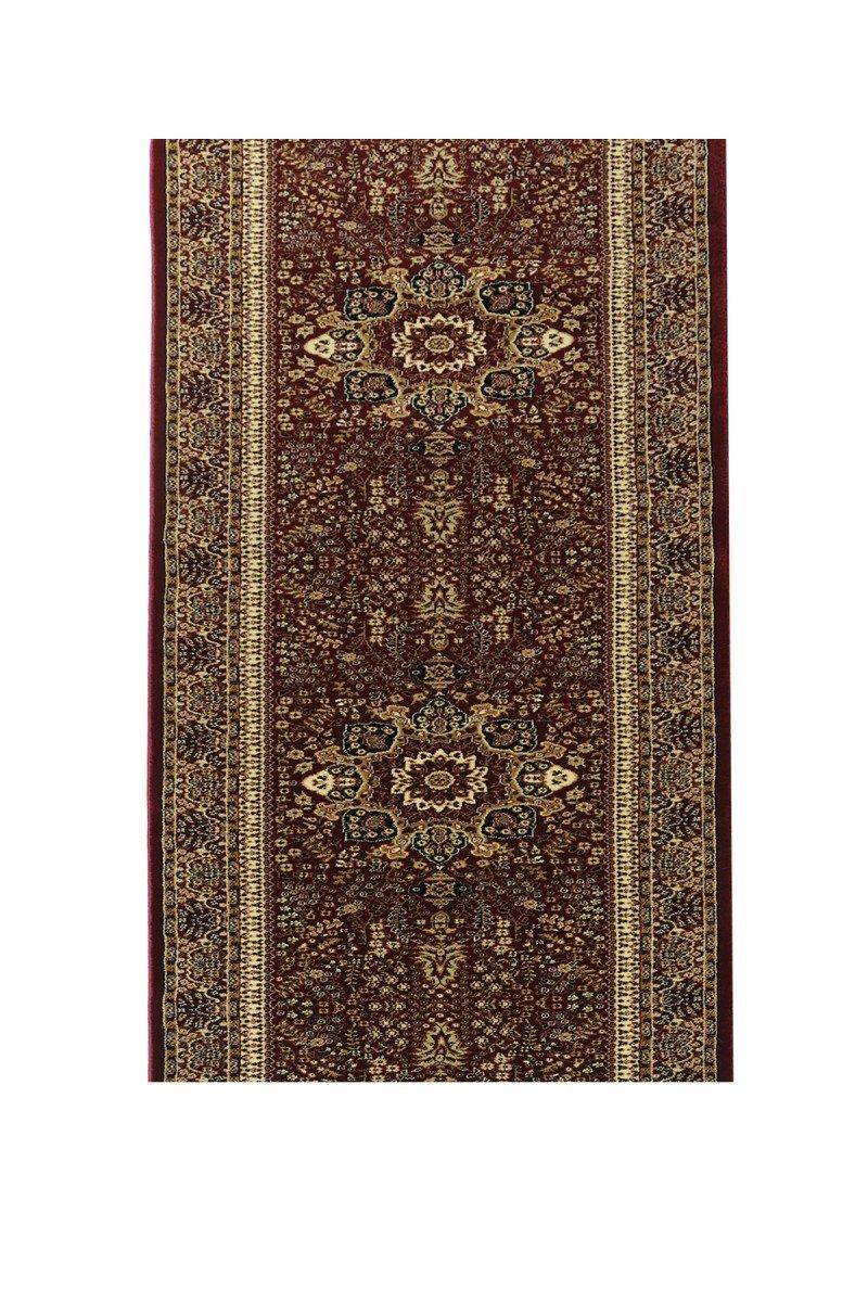 Havatex Orient-Teppich Läufer Marokko Grafisch - und schadstoffgeprüft   pflegeleicht robust strapazierfähig und schmutzabweisend   Diele Flur Schlafzimmer, Farbe Rot, Größe 100 x 750 cm