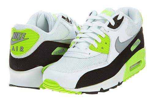 2f5a8cbc9d9a7 Nike Mens Air Max 90 Essential White/Flash Lime/Black/Wolf Grey ...