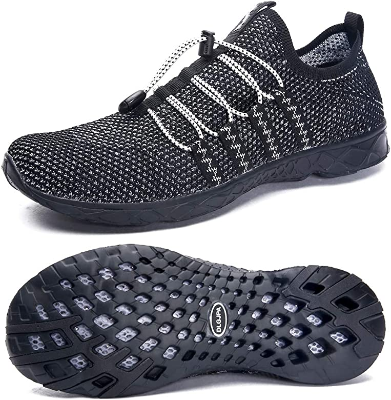 72b2a237c1 DLGJPA Men's Quick Drying Water Shoes for Beach or Water Sports Lightweight  Slip On Walking Shoes