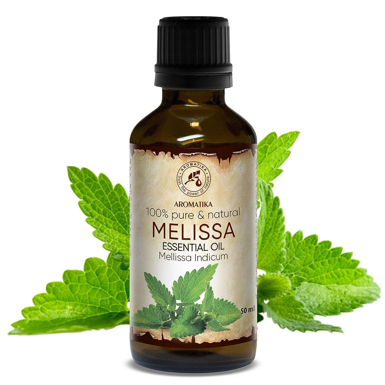 Aceite esencial de melisa 50ml: 100% puro para aromaterapia o relajación