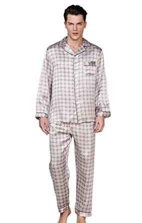 57a221671c Colorful Silk CLC Men s Pure Mulberry Silk Pajama Set Patterns Printed  Sleep Sets at Amazon Men s Clothing store