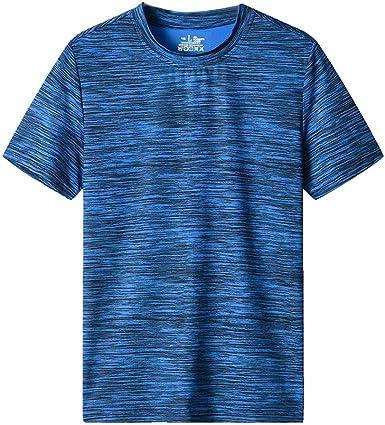 Sylar Camisetas Deportivas Hombre Verano Transpirable Camiseta de Manga Corta Cuello Redondo para Corriendo Fitness Casual T-Shirt Basicas Talla Grande Blusa tee: Amazon.es: Ropa y accesorios