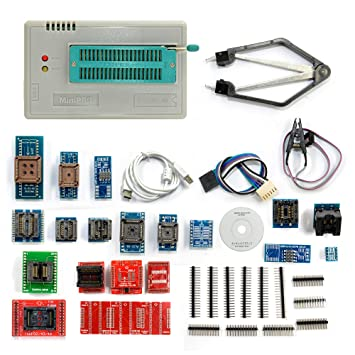 Cymall TL866A mit 24 Adapter, TL866A Universal Minipro Programmierer + 24  Adapter + Test Clip TL866 EEPROM Programmierer(TL866A with 24 Adapter)