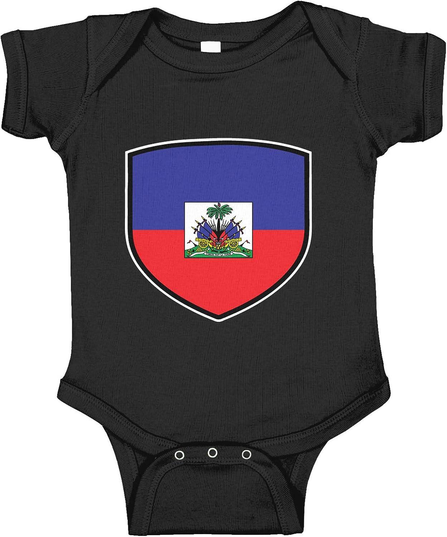 Amdesco Haiti Shield Haitian Flag Infant Bodysuit